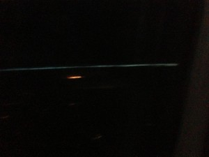 Yes, that flash of light is lightning.