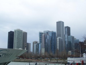 The view of Chicago from the Navy Pier